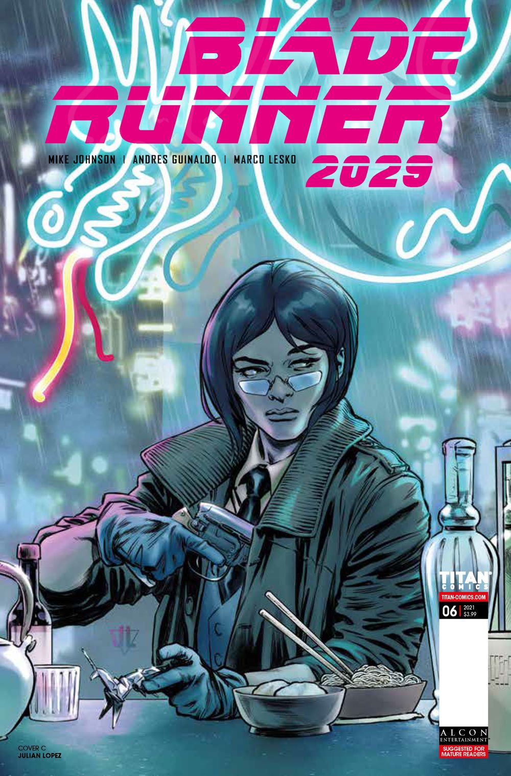 BR20296_CoversB_Lopez ComicList Previews: BLADE RUNNER 2029 #6