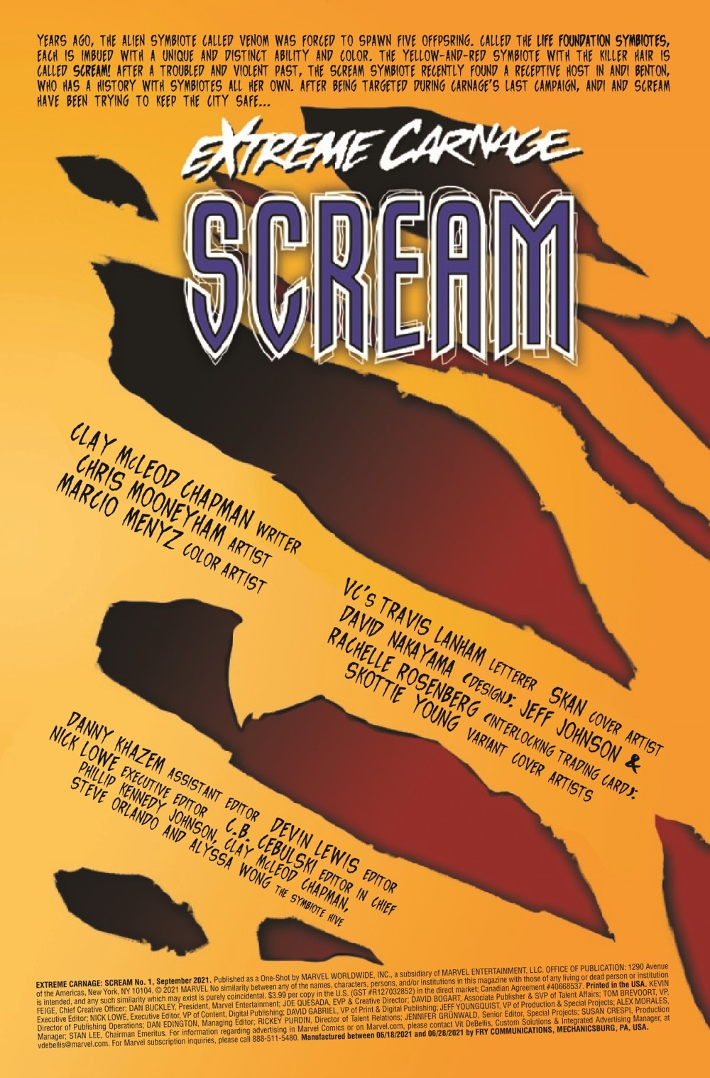 EXTCARNSC2021001_Preview-2 ComicList Previews: EXTREME CARNAGE SCREAM #1