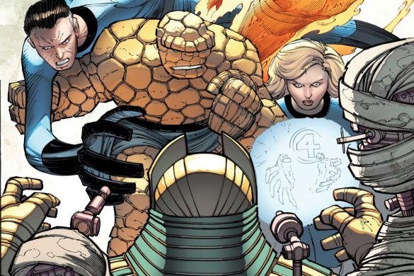 FF2018035014_col Witness the growth of the Fantastic Four in this John Romita Jr. wraparound cover
