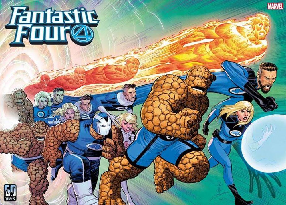 FF2018035_Cov_wraparound Witness the growth of the Fantastic Four in this John Romita Jr. wraparound cover