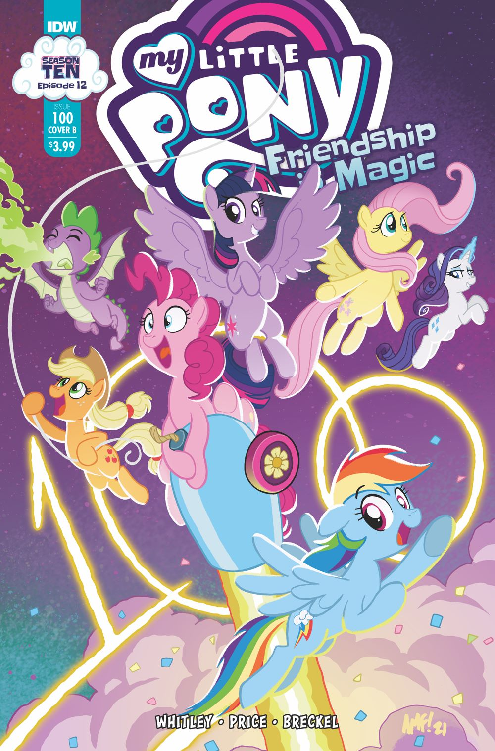 MLP100_12-coverB ComicList Previews: MY LITTLE PONY FRIENDSHIP IS MAGIC #100