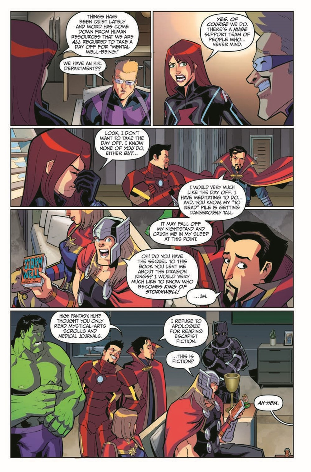 MarvelAction_Avengers_Vol.1_OffTheClock_TPB_pr-5 ComicList Previews: MARVEL ACTION AVENGERS VOLUME 5 OFF THE CLOCK TP