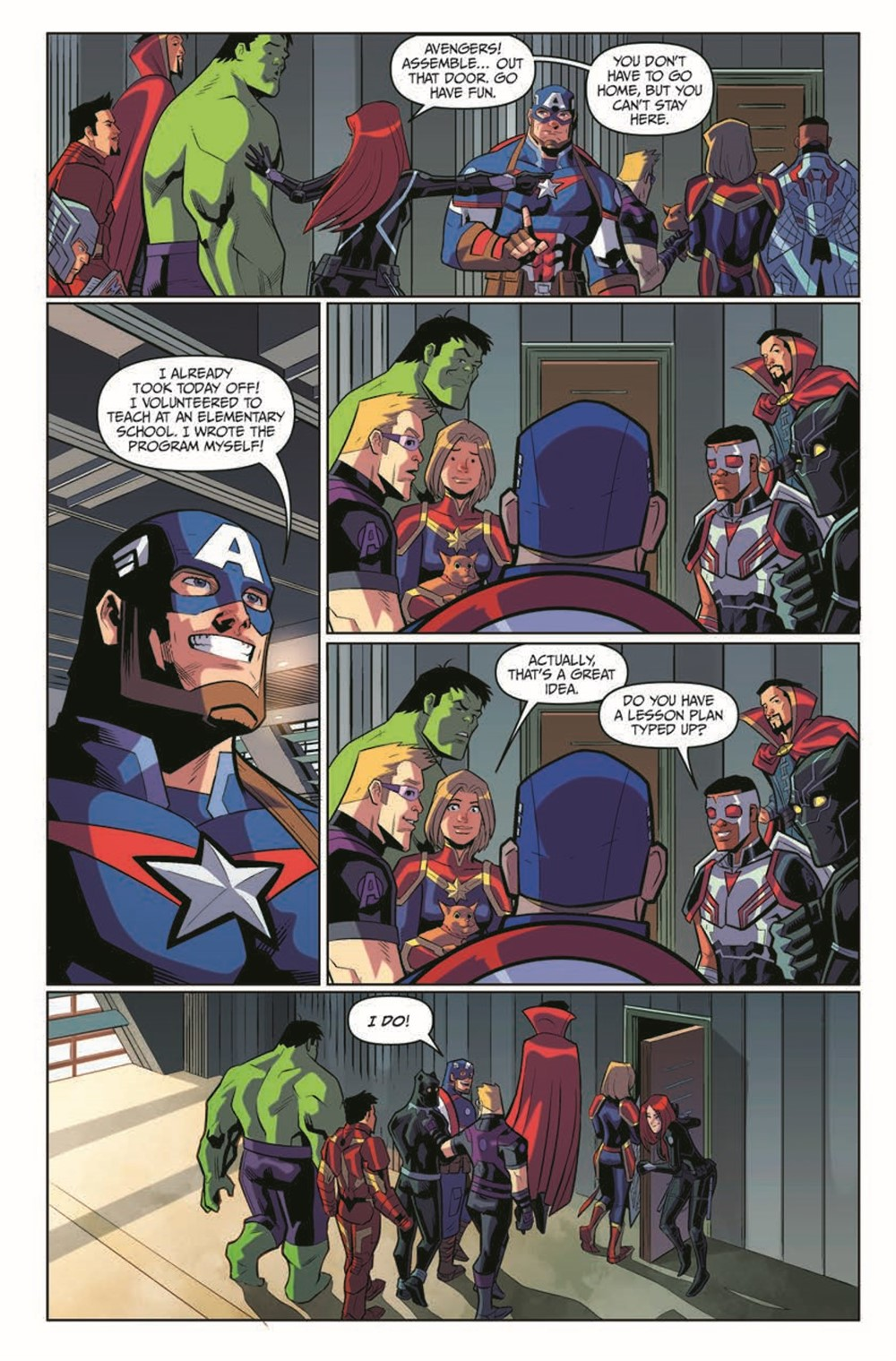 MarvelAction_Avengers_Vol.1_OffTheClock_TPB_pr-6 ComicList Previews: MARVEL ACTION AVENGERS VOLUME 5 OFF THE CLOCK TP