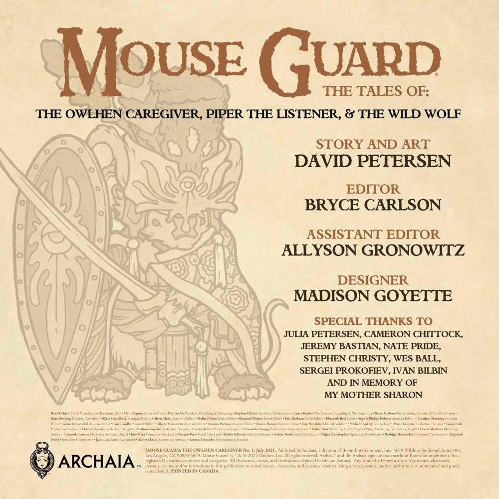 MouseGuard_OwlhenCaregiver_001_PRESS_35 ComicList Previews: MOUSE GUARD THE OWLHEN CAREGIVER #1