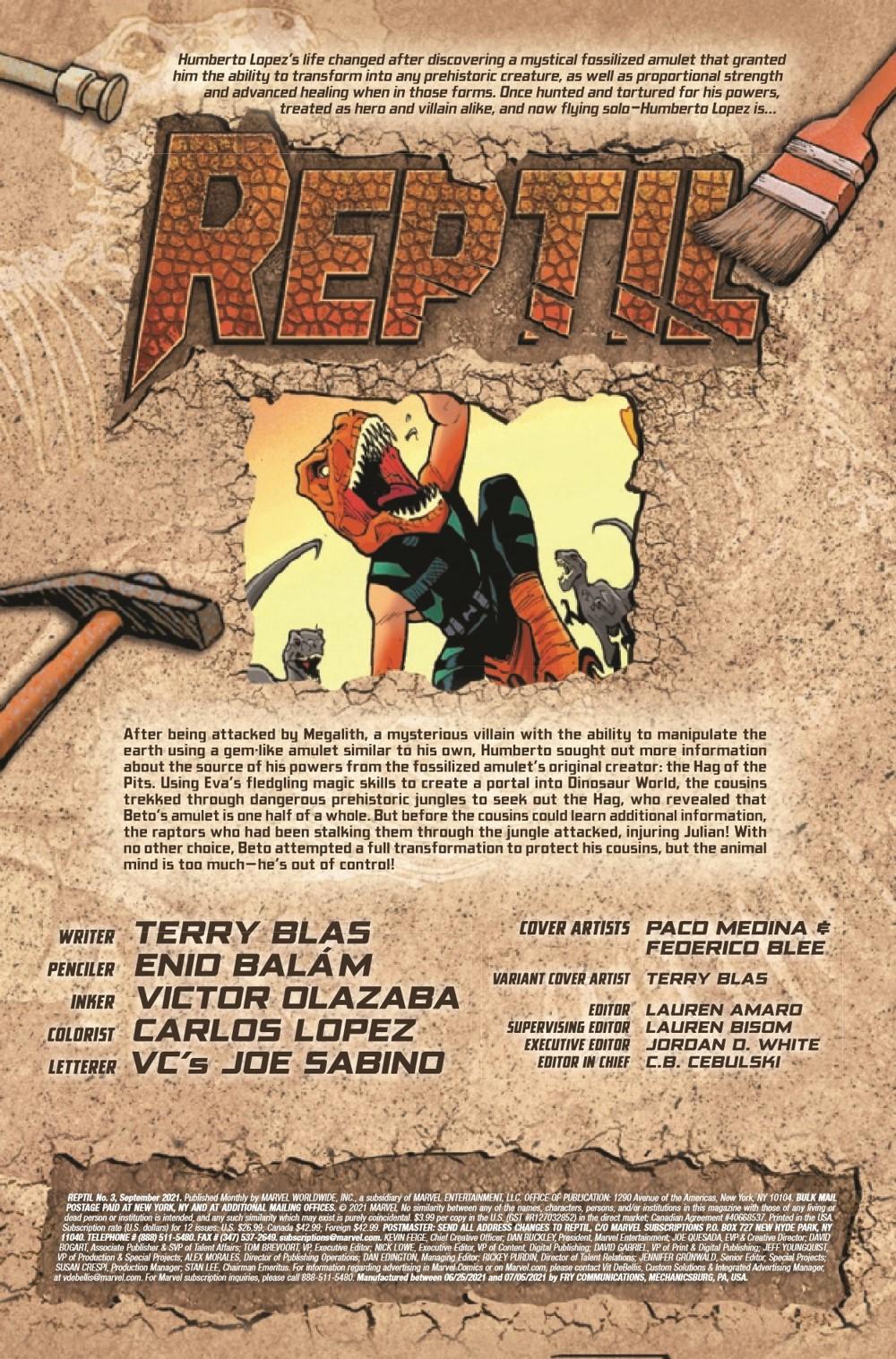 REPTIL2021003_Preview-2 ComicList Previews: REPTIL #3 (OF 4)