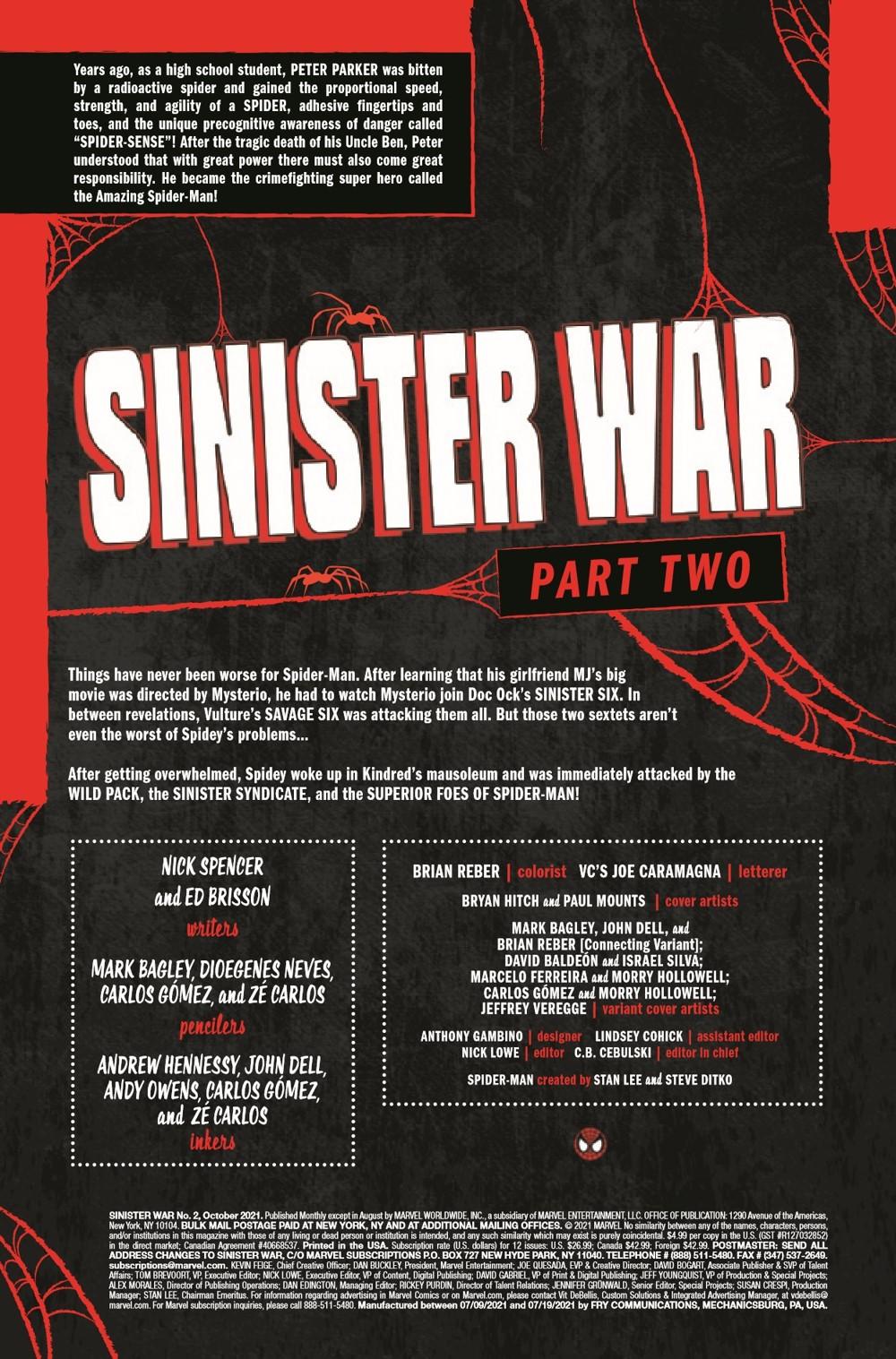 SINISTERWAR2021002_Preview-2 ComicList Previews: SINISTER WAR #2 (OF 4)
