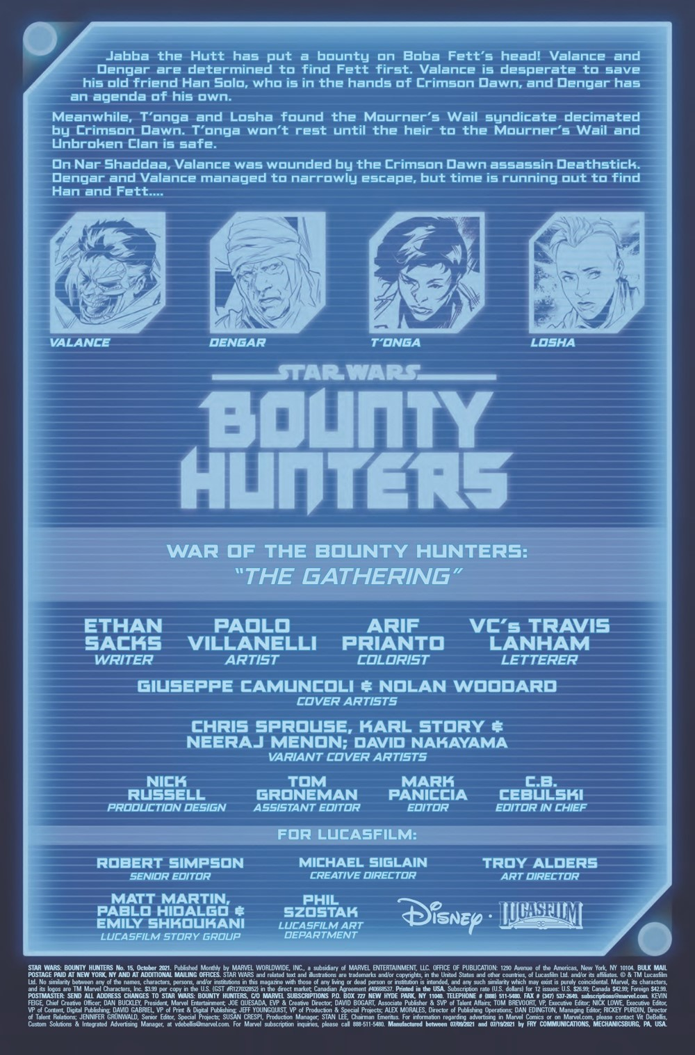 STWBOUNTYHUNT2020015_Preview-2 ComicList Previews: STAR WARS BOUNTY HUNTERS #15
