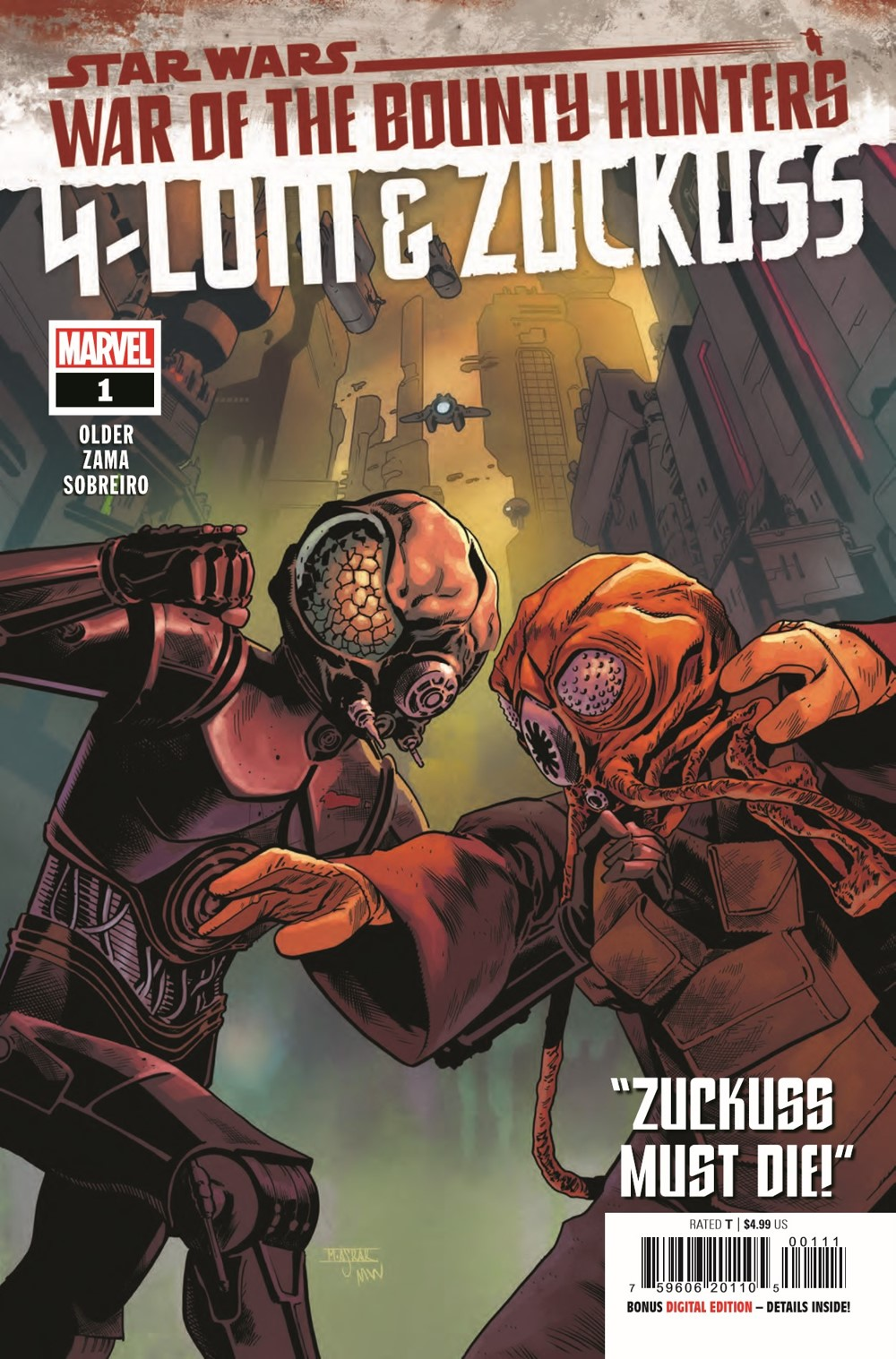 STWWAROTBH4LOMZUCK2021001_Preview-1 ComicList Previews: STAR WARS WAR OF THE BOUNTY HUNTERS 4-LOM AND ZUCKUSS #1