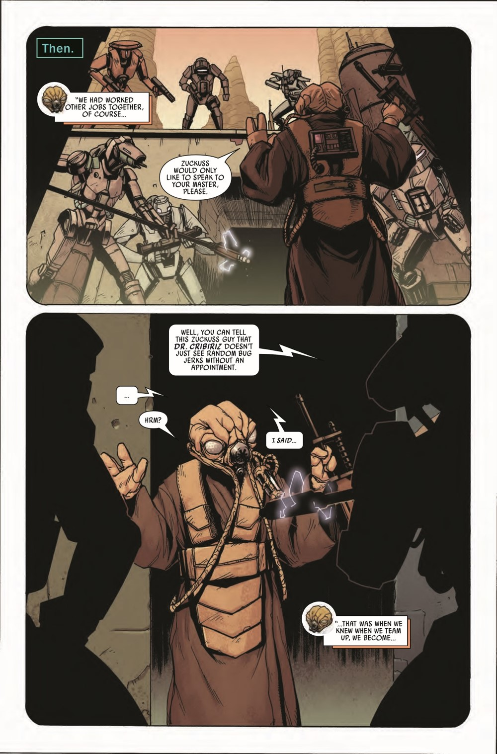 STWWAROTBH4LOMZUCK2021001_Preview-3 ComicList Previews: STAR WARS WAR OF THE BOUNTY HUNTERS 4-LOM AND ZUCKUSS #1