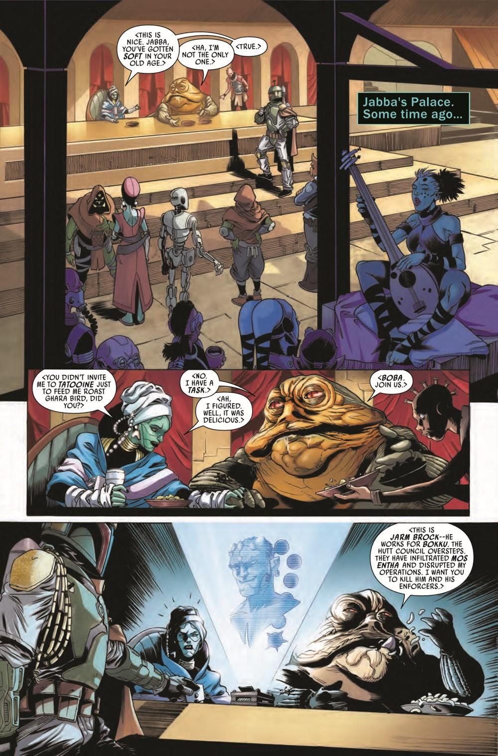 STWWAROTBHJABBAT2021001_Preview-5 ComicList Previews: STAR WARS WAR OF THE BOUNTY HUNTERS JABBA THE HUTT #1