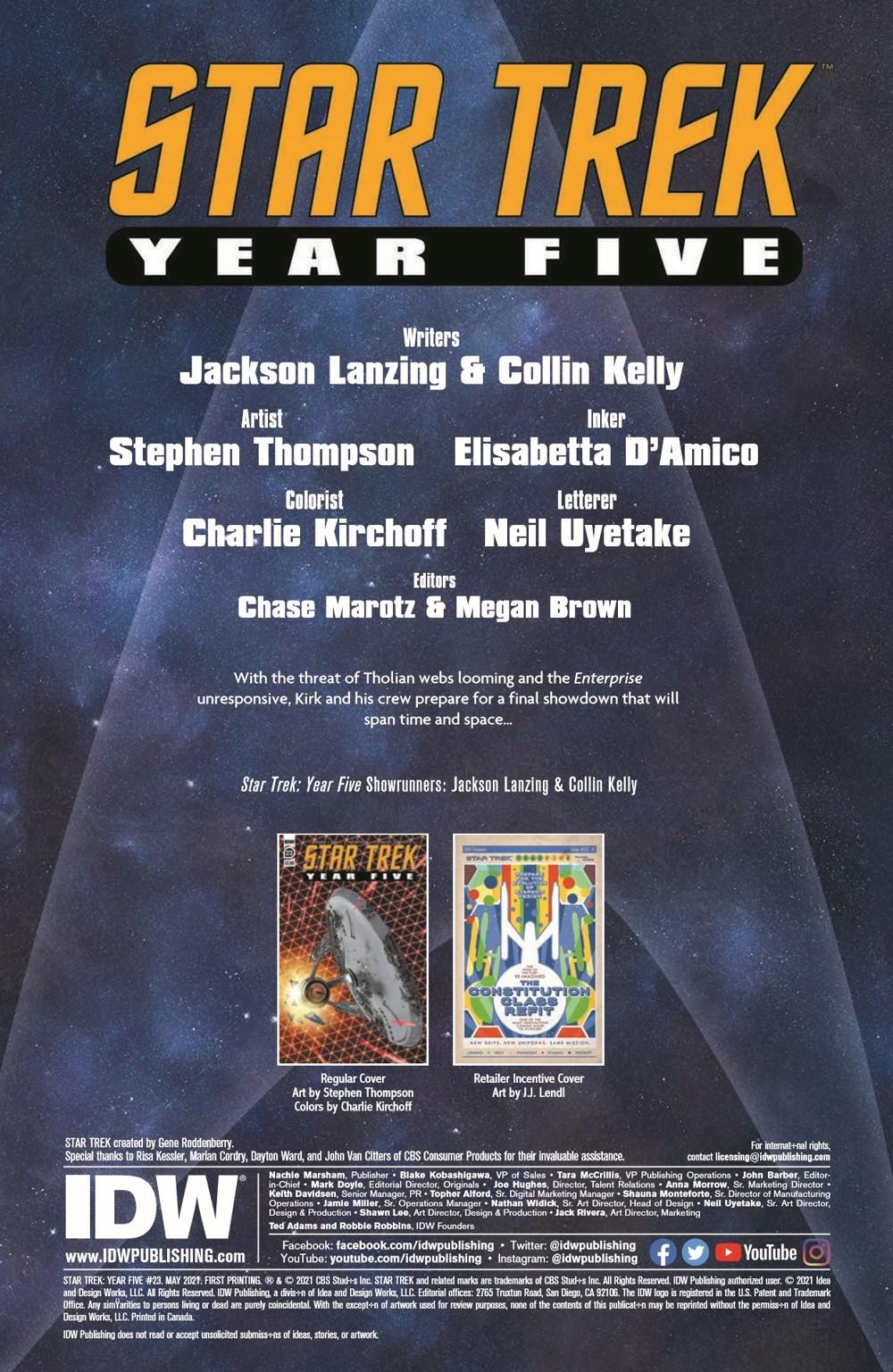 ST_YearFive23-pr-2 ComicList Previews: STAR TREK YEAR FIVE #23