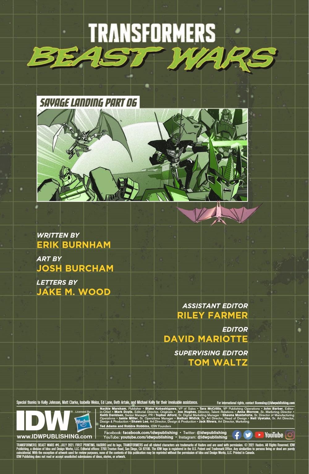 TFBW_06_pr-2 ComicList Previews: TRANSFORMERS BEAST WARS #6