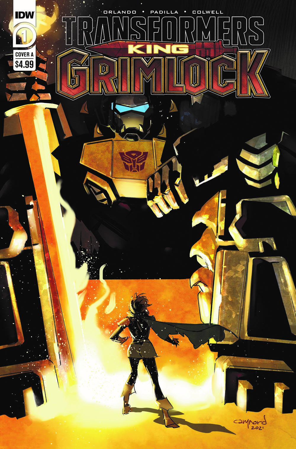 TFGrimlock-01-Cover-A ComicList Previews: TRANSFORMERS KING GRIMLOCK #1 (OF 5)
