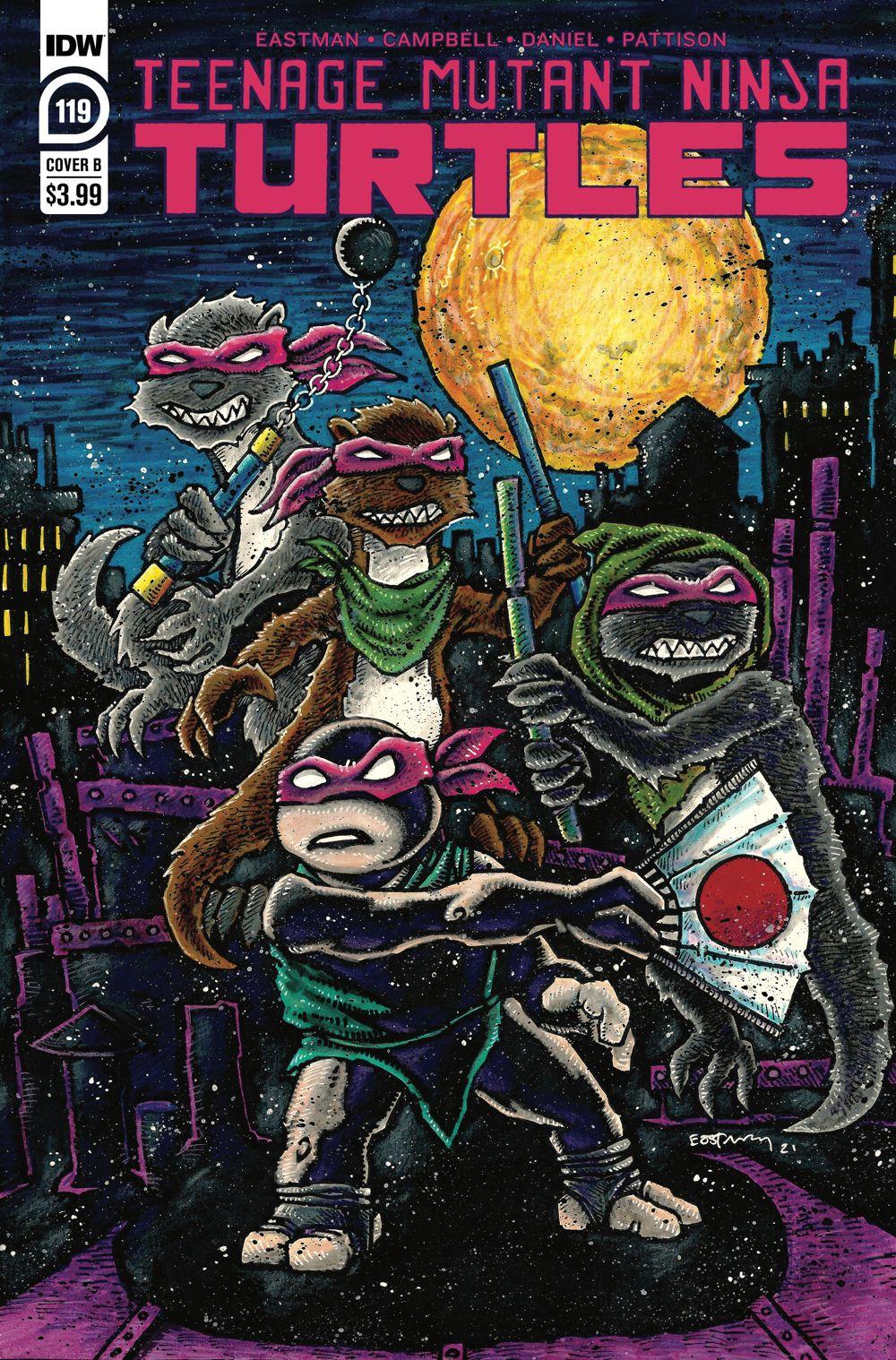 TMNT119_cvrB ComicList Previews: TEENAGE MUTANT NINJA TURTLES #119