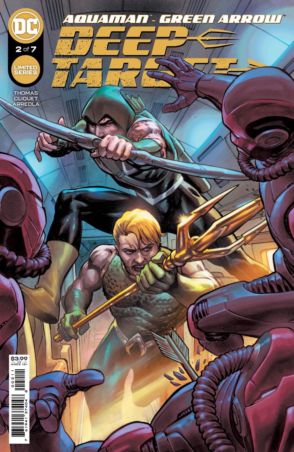 AQMAN_GREEN_ARROW_DEEP_TARGET_Cv2 DC Comics November 2021 Solicitations
