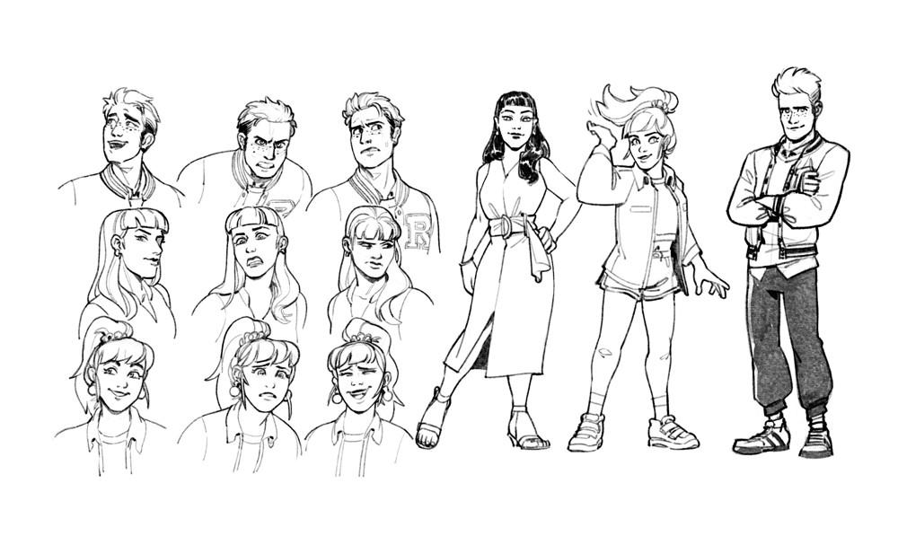 Archie_ModelSheet_EvanStanley CHILLING ADVENTURES IN SORCERY #1 anthology arrives November 3