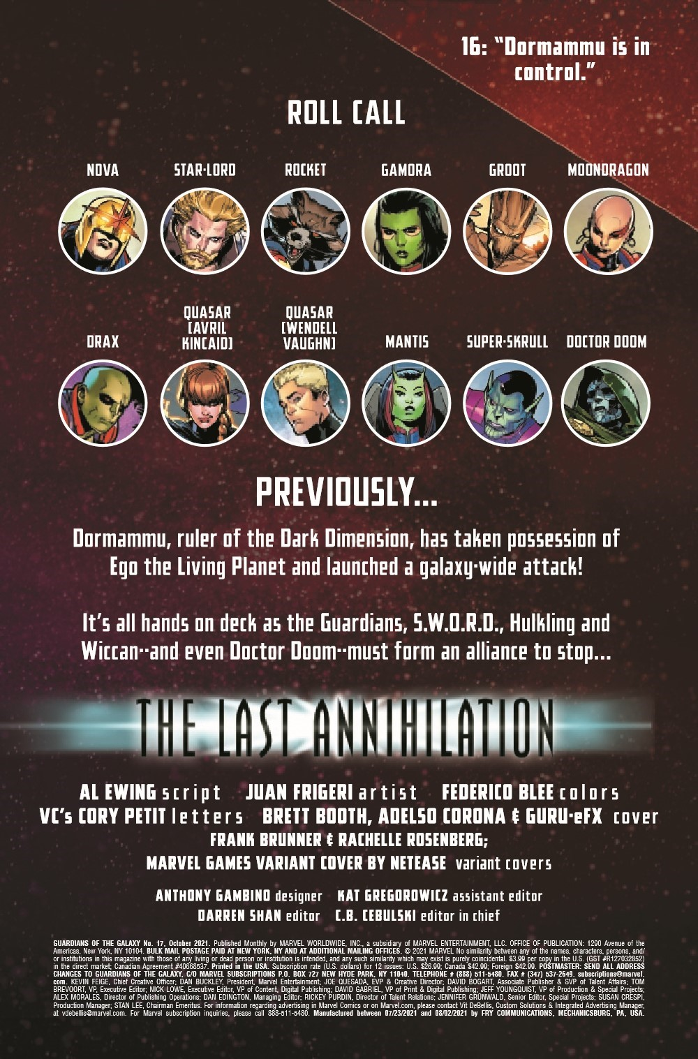 GARGAL2020017_Preview-2 ComicList Previews: GUARDIANS OF THE GALAXY #17