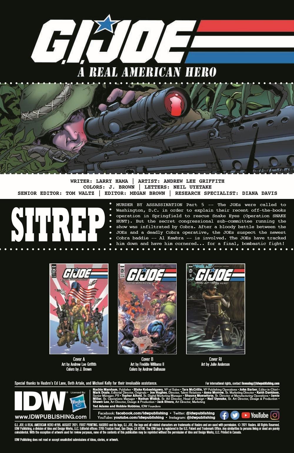 GIJoeRAH285-pr-2 ComicList Previews: G.I. JOE A REAL AMERICAN HERO #285