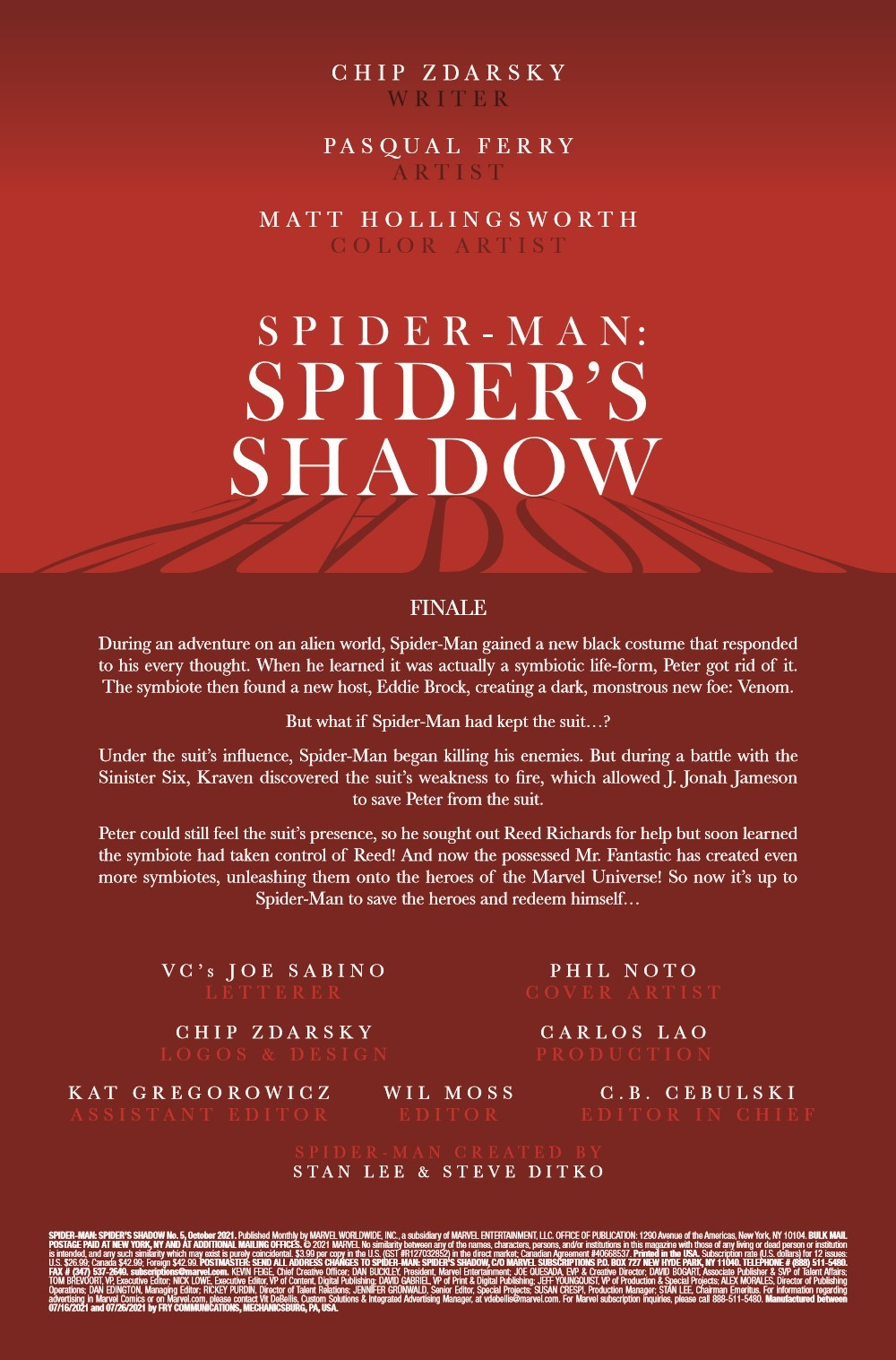 SMSPIDERSHADOW2021005_Preview-2 ComicList Previews: SPIDER-MAN SPIDER'S SHADOW #5 (OF 5)
