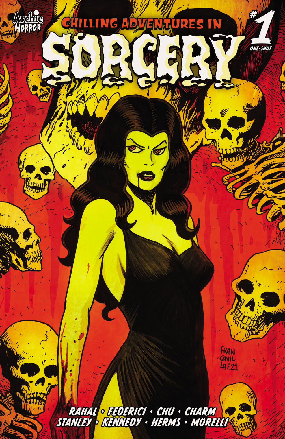 Sorcery1Variant-FF Archie Comic Publications November 2021 Solicitations