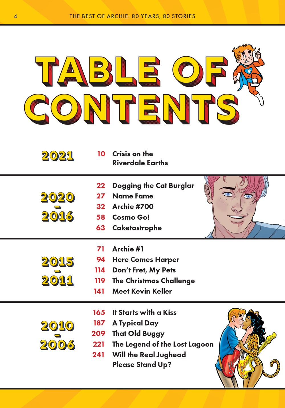 TheBestOfArchieComics_80Years80Stories_ToC1 ComicList Previews: THE BEST OF ARCHIE COMICS EIGHTY YEARS EIGHTY STORIES TP
