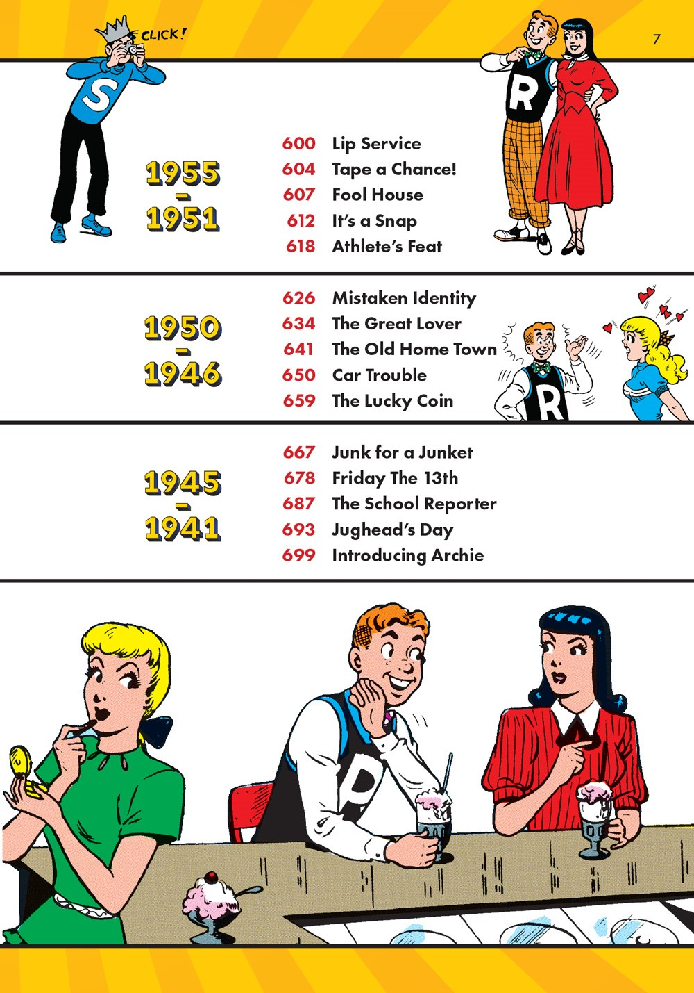 TheBestOfArchieComics_80Years80Stories_ToC4 ComicList Previews: THE BEST OF ARCHIE COMICS EIGHTY YEARS EIGHTY STORIES TP