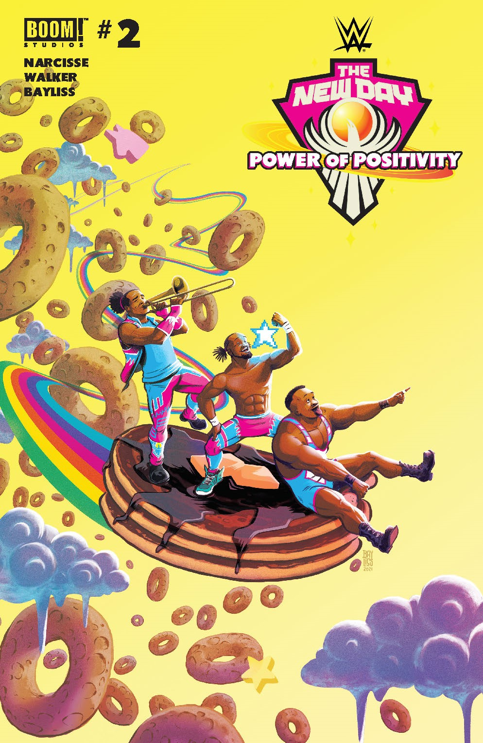 WWE_NewDay_002_Cover_A_Main ComicList Previews: WWE THE NEW DAY POWER OF POSITIVITY #2 (OF 2)