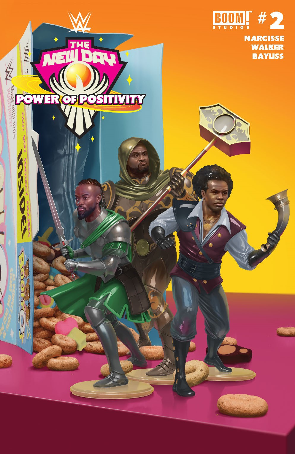 WWE_NewDay_002_Cover_B_Connecting ComicList Previews: WWE THE NEW DAY POWER OF POSITIVITY #2 (OF 2)