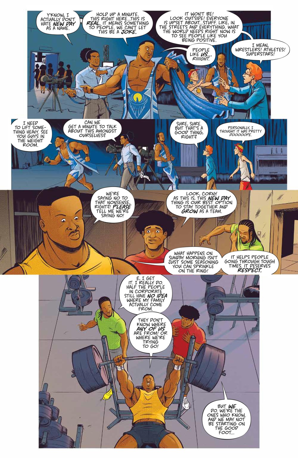 WWE_NewDay_002_PRESS_5 ComicList Previews: WWE THE NEW DAY POWER OF POSITIVITY #2 (OF 2)