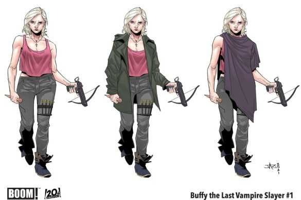 BuffyLastVampireSlayer_001_CharacterDesign_Buffy_PROMO Buffy is middle aged crazy in THE LAST VAMPIRE SLAYER