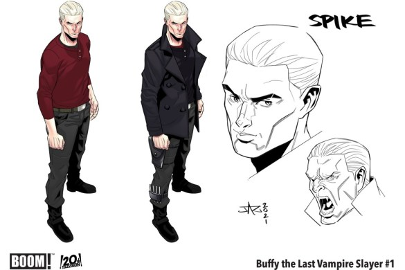 BuffyLastVampireSlayer_001_CharacterDesign_Spike_PROMO Buffy is middle aged crazy in THE LAST VAMPIRE SLAYER