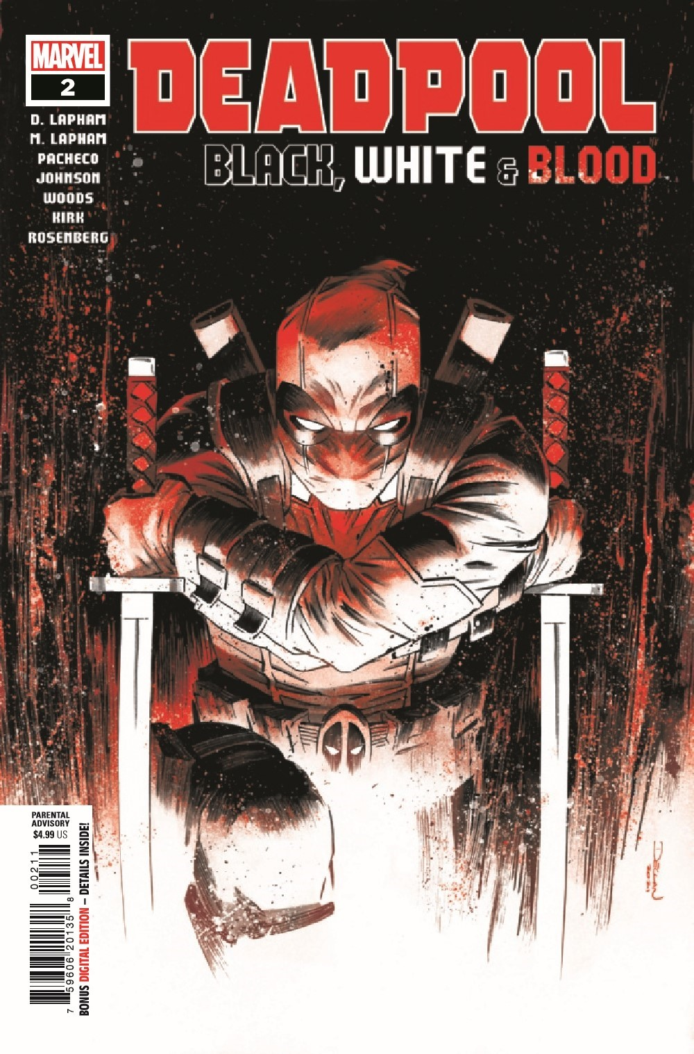DPOOLBLKWHBL2021002_Preview-1 ComicList Previews: DEADPOOL BLACK WHITE AND BLOOD #2 (OF 4)