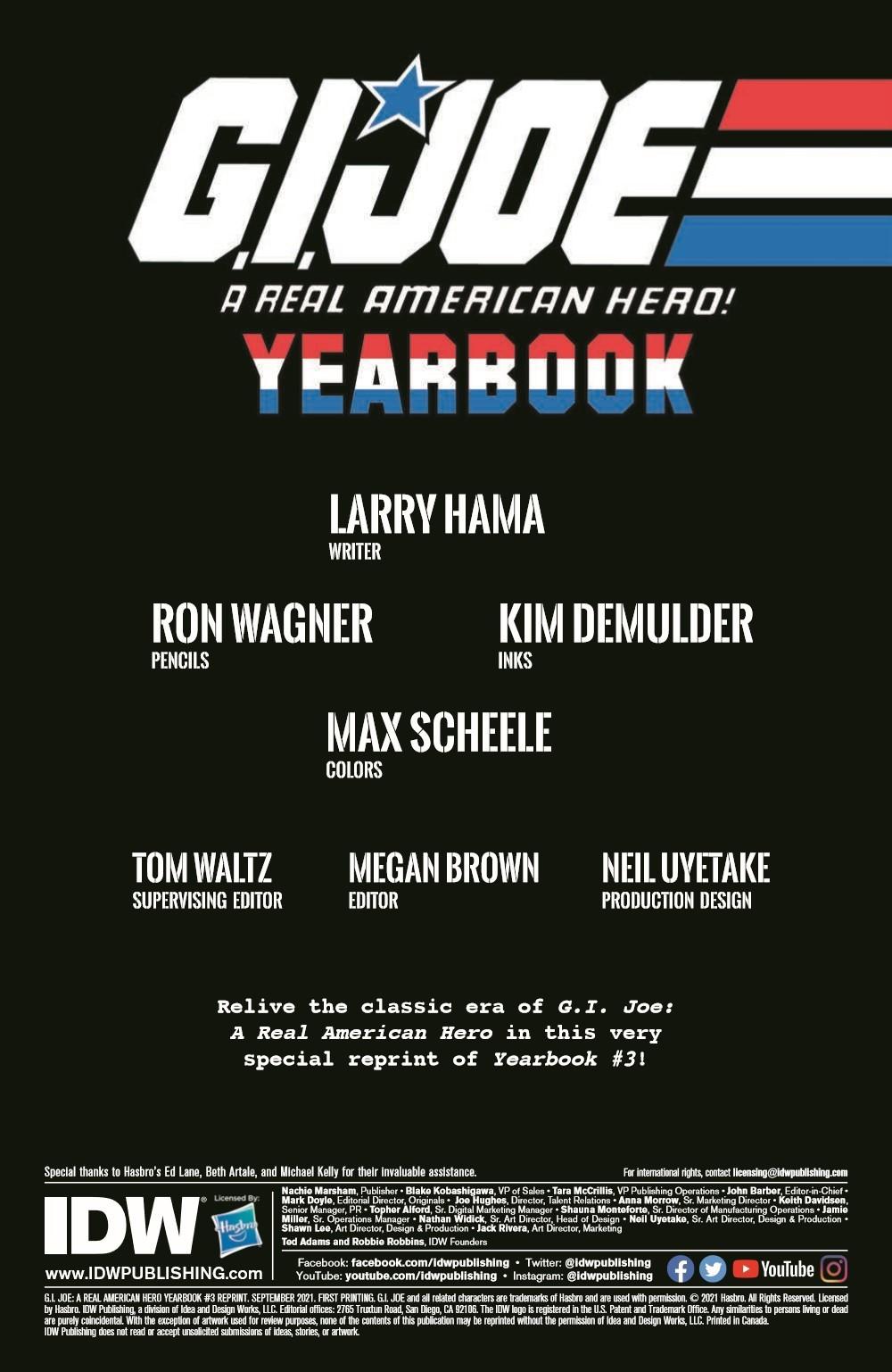 GIJoeRAH_Yearbook03-pr-2 ComicList Previews: G.I. JOE A REAL AMERICAN HERO YEARBOOK #3