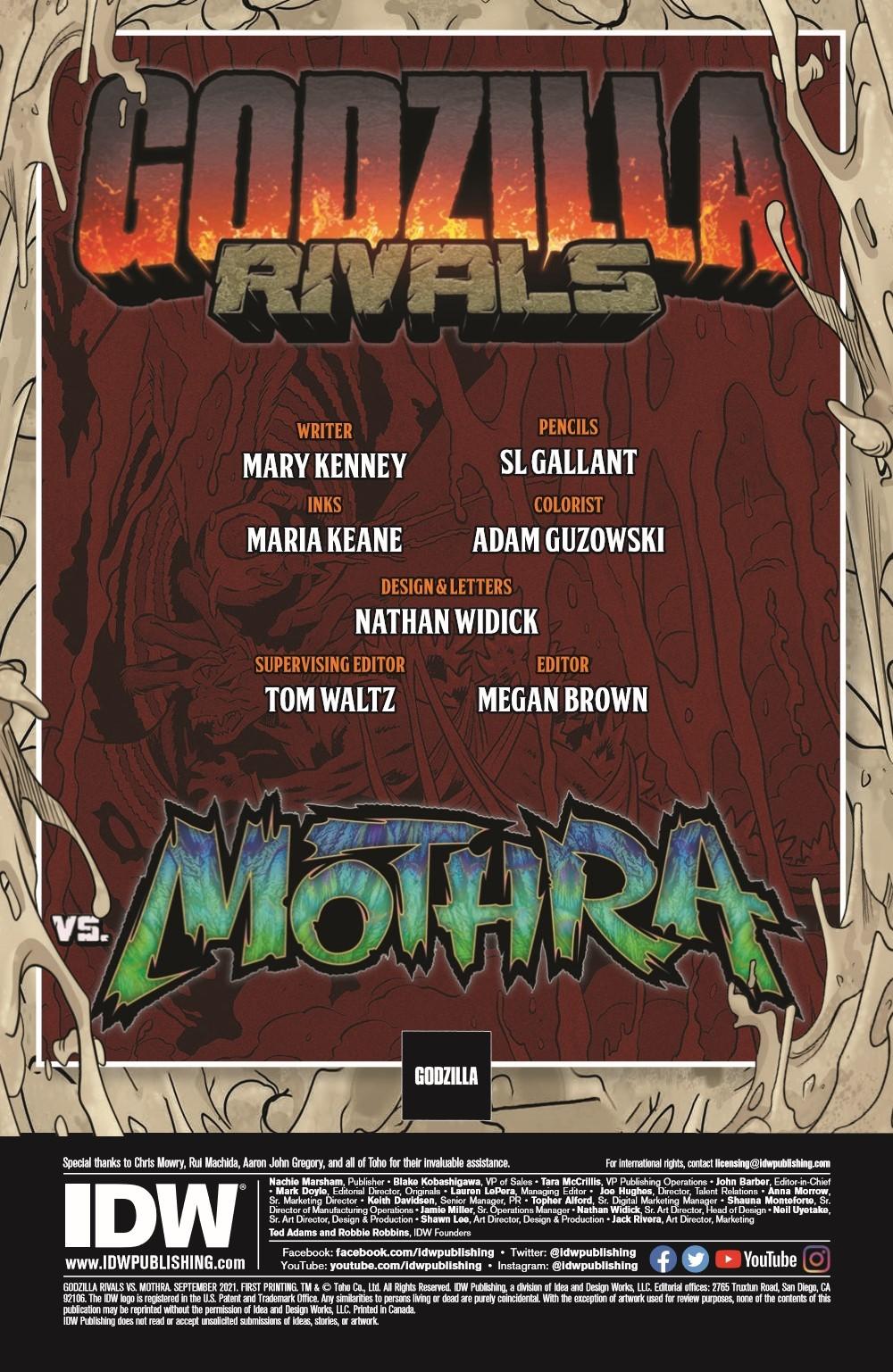 Godzilla_Rivals_2_pr-2 ComicList Previews: GODZILLA RIVALS VS MOTHRA #1