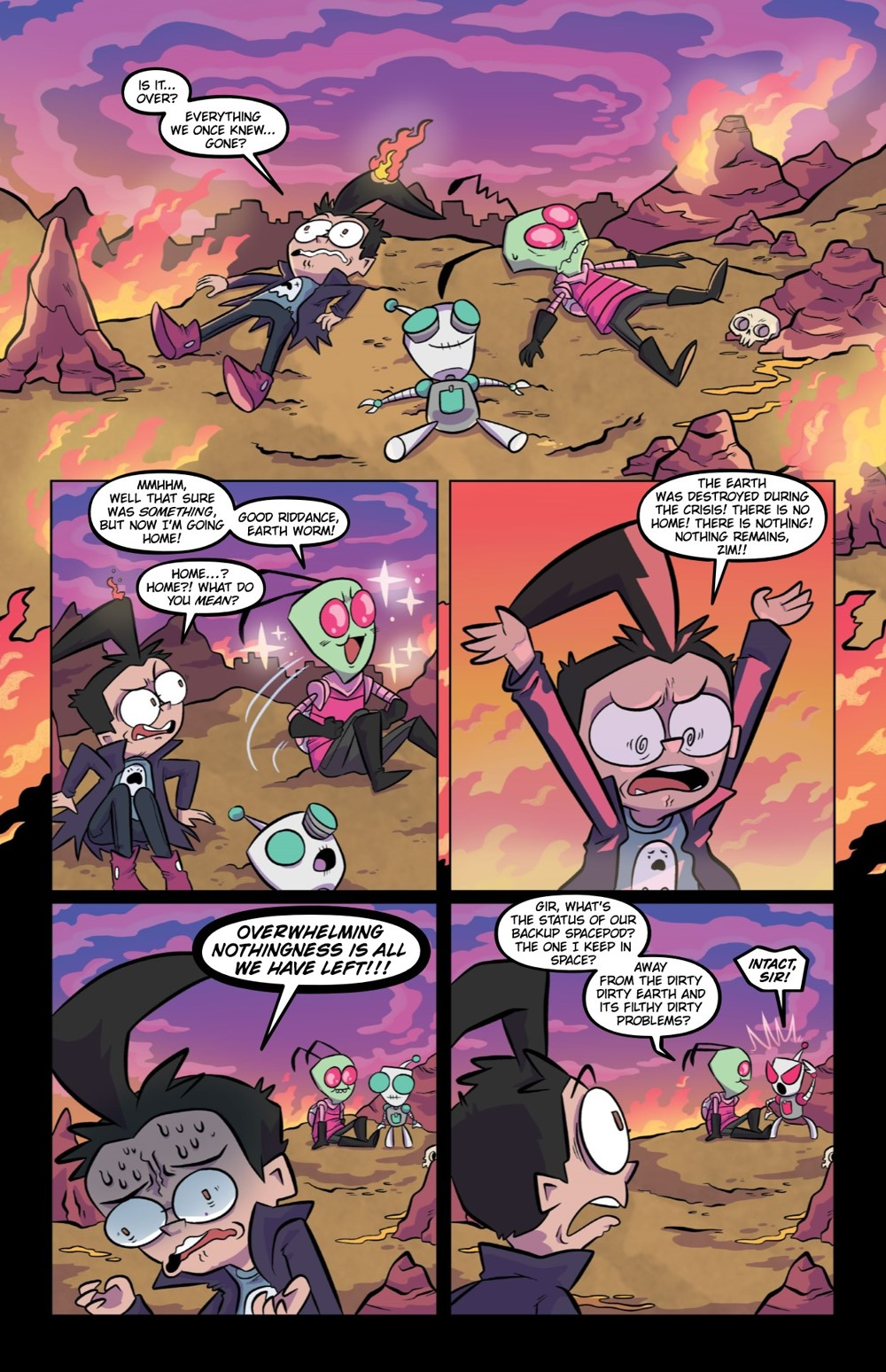 INVADERZIM5-HC-REFERENCE-006 ComicList Previews: INVADER ZIM DELUXE EDITION VOLUME 5 HC