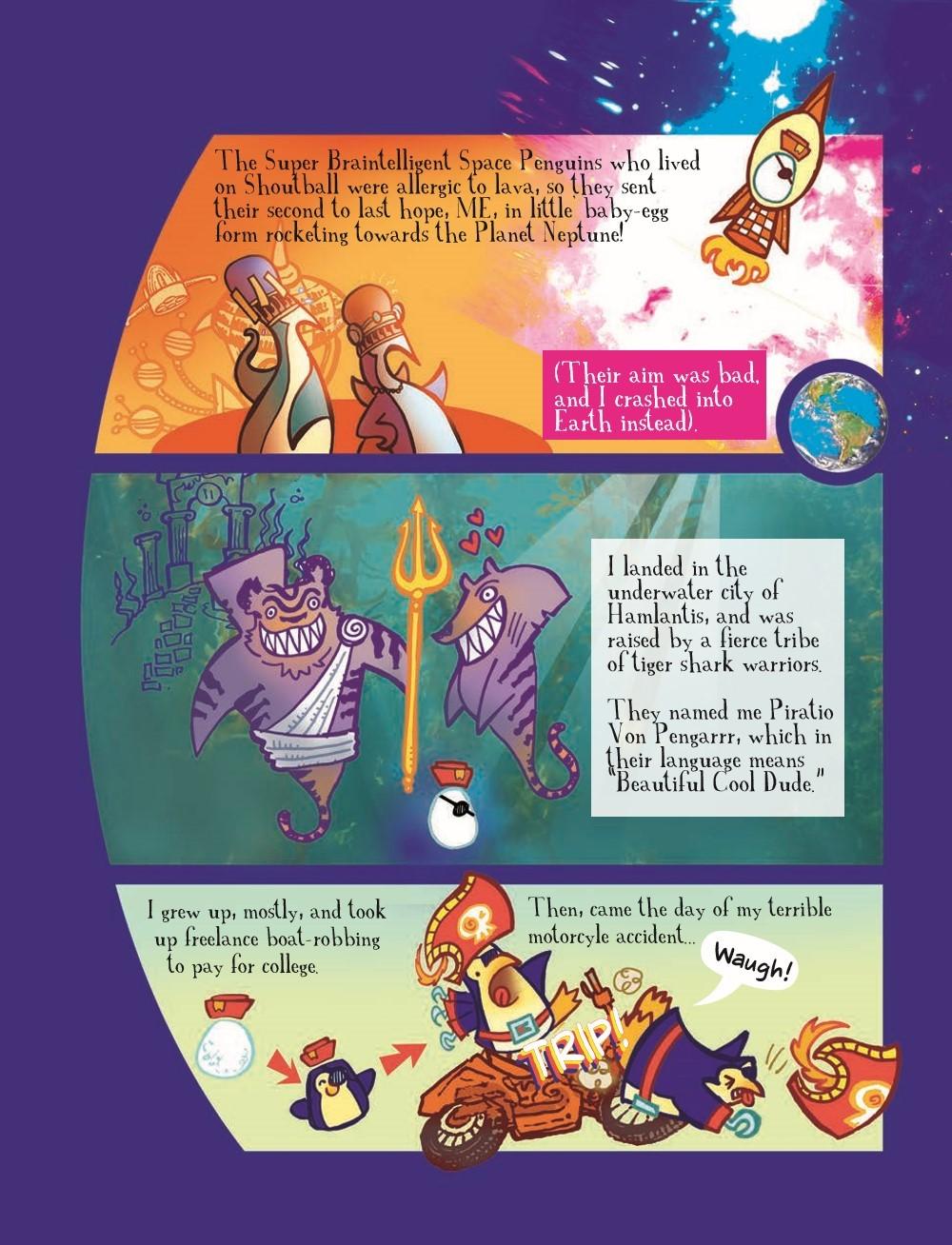 PPvNC_3_HC_pr-4 ComicList Previews: PIRATE PENGUIN VS NINJA CHICKEN VOLUME 3 MACARONI AND BEES HC