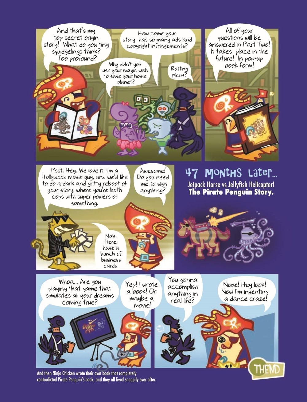 PPvNC_3_HC_pr-6 ComicList Previews: PIRATE PENGUIN VS NINJA CHICKEN VOLUME 3 MACARONI AND BEES HC