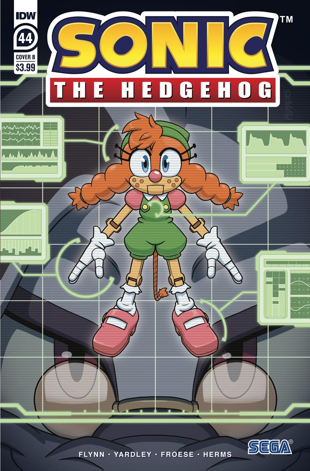 STH44_cvrB ComicList Previews: SONIC THE HEDGEHOG #44