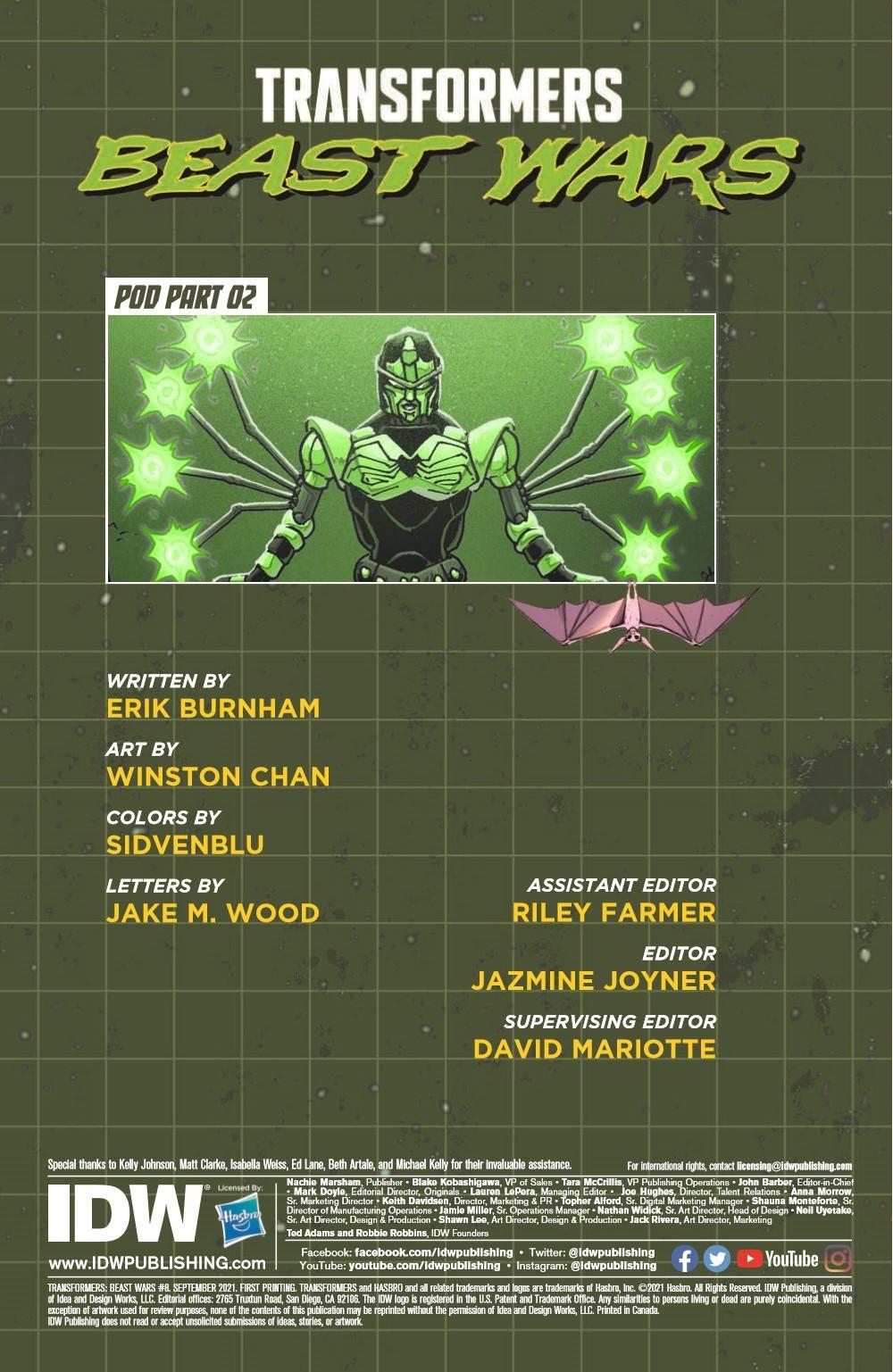 TFBW_08_pr-2 ComicList Previews: TRANSFORMERS BEAST WARS #8