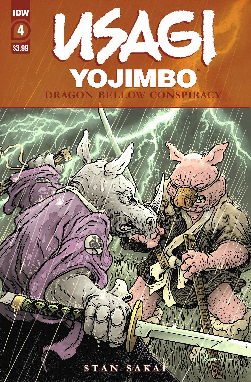 Usagi-DBC04_cvrA ComicList Previews: USAGI YOJIMBO THE DRAGON BELLOW CONSPIRACY #4 (OF 6)