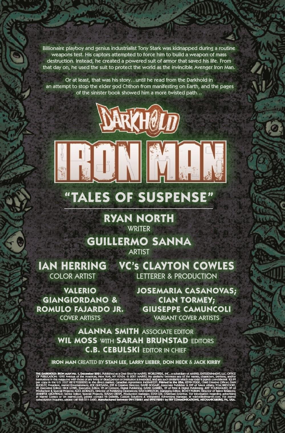 DARKHOLDIM2021001_Preview-2 ComicList Previews: DARKHOLD IRON MAN #1