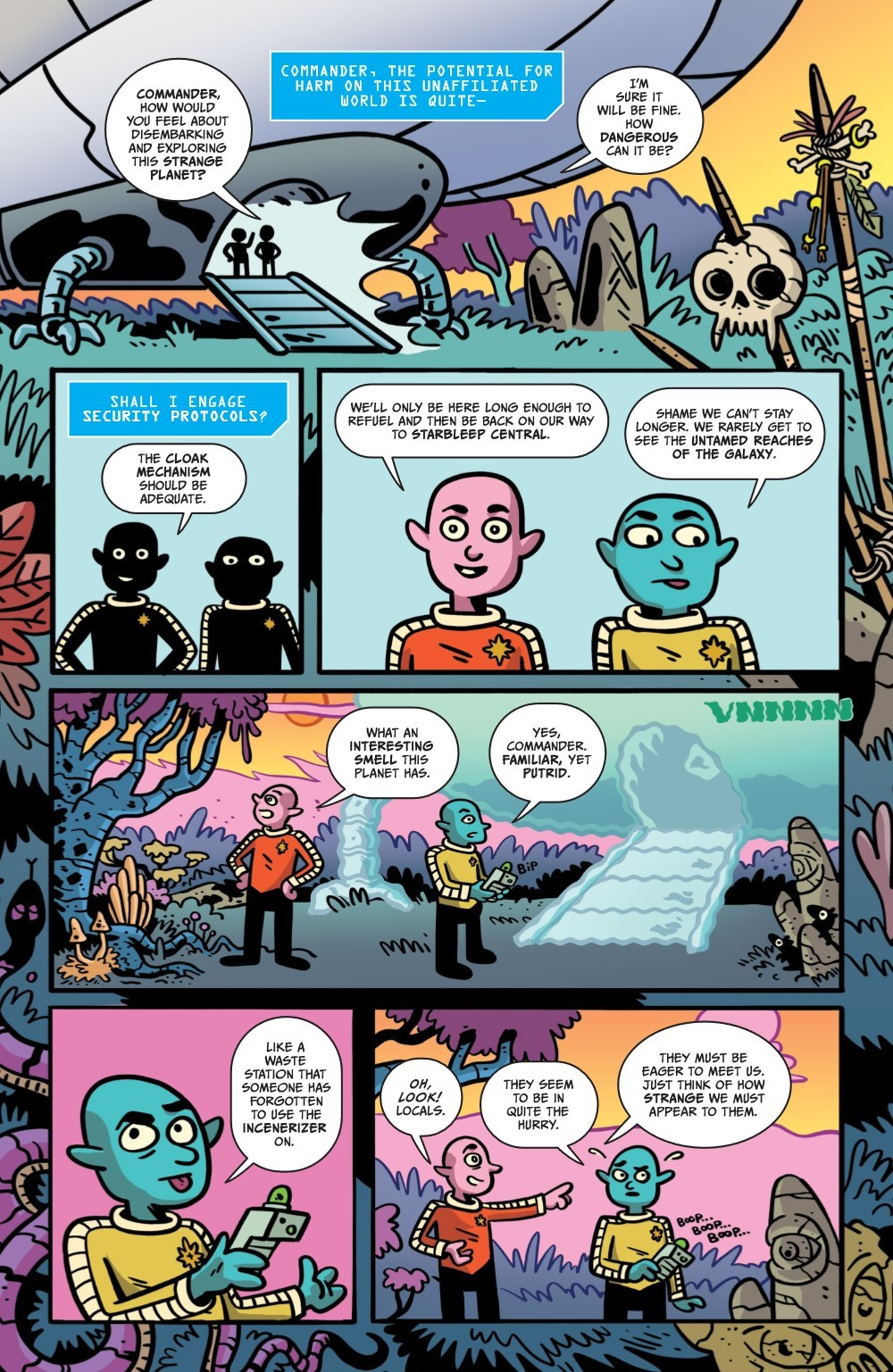 ORCSINSPACE-V1-REFERENCE-009 ComicList Previews: ORCS IN SPACE VOLUME 1 TP