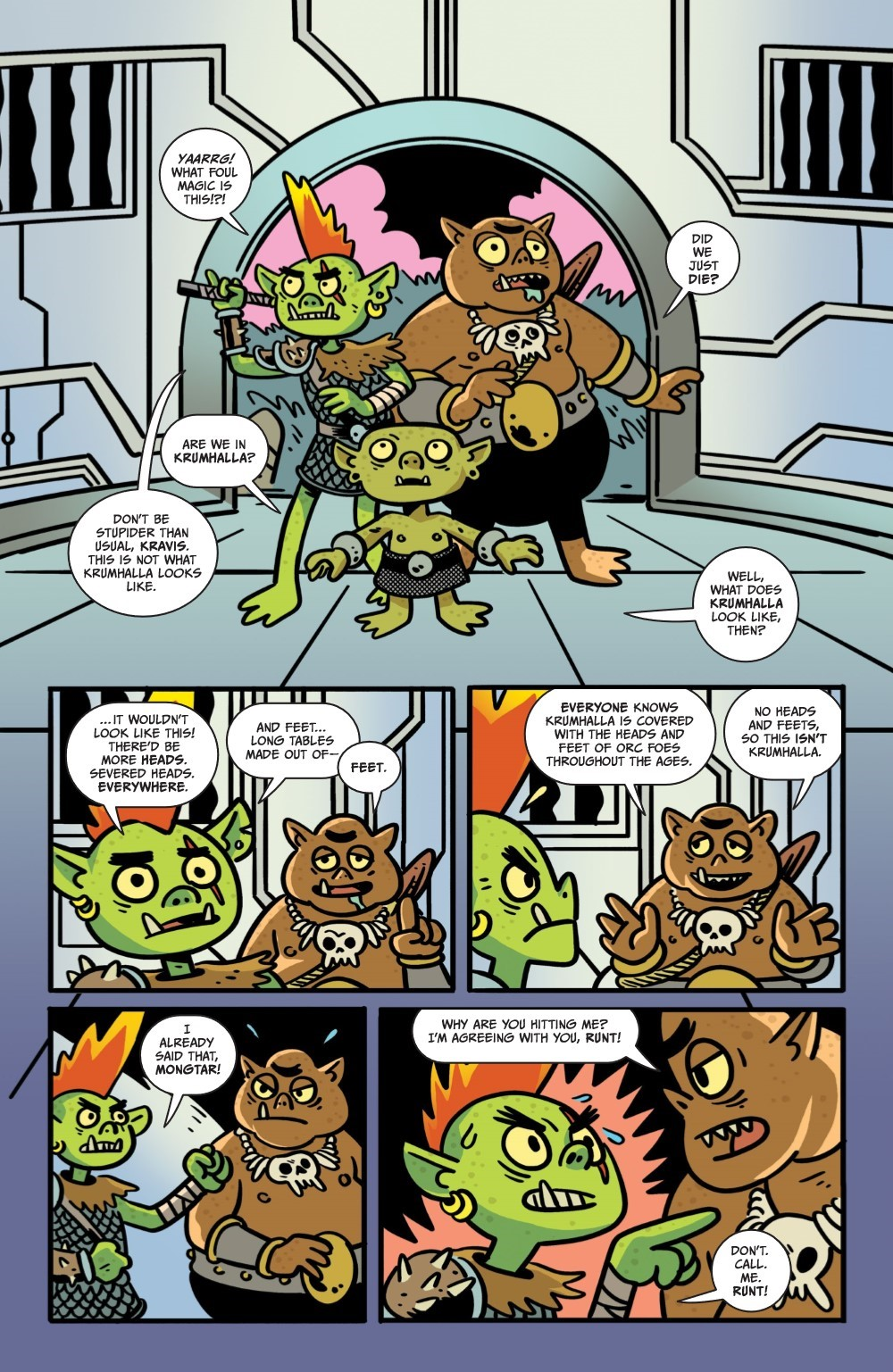 ORCSINSPACE-V1-REFERENCE-011 ComicList Previews: ORCS IN SPACE VOLUME 1 TP