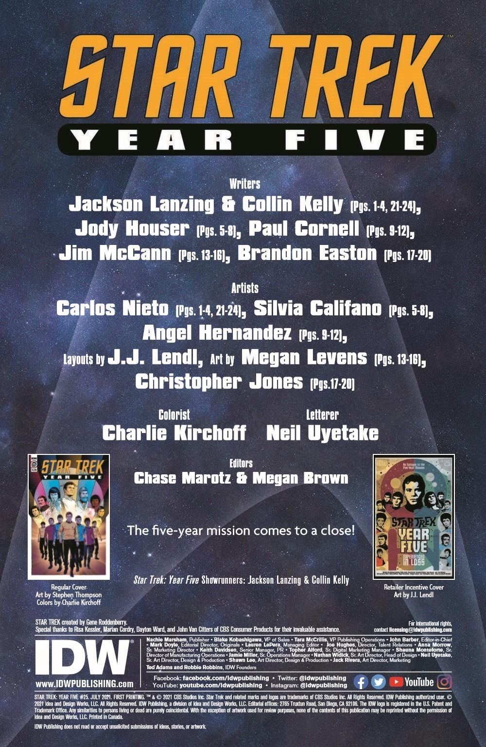 ST_YearFive25-pr-2 ComicList Previews: STAR TREK YEAR FIVE #25