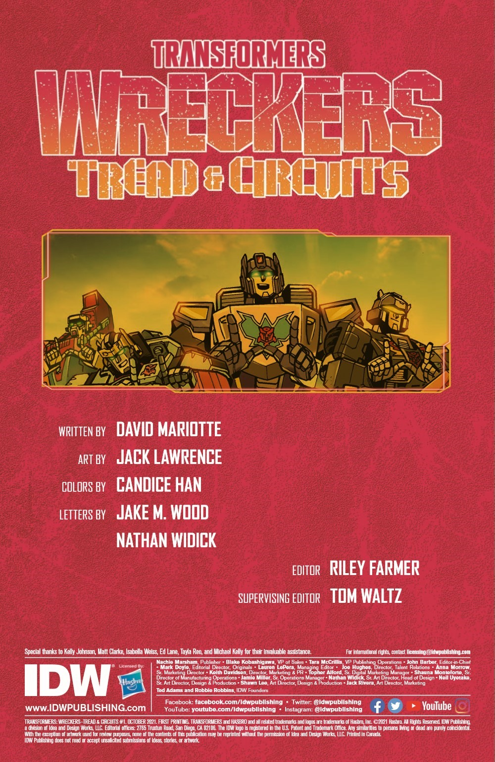TFWreckers01-pr-2 ComicList Previews: TRANSFORMERS WRECKERS TREAD AND CIRCUITS #1 (OF 4)