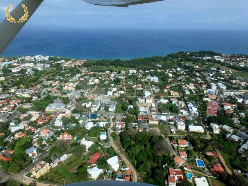 Flying over Sosua