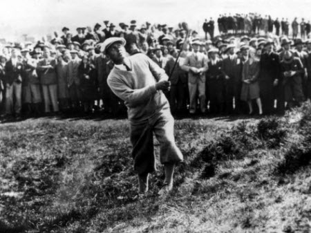 Bobby Jones at the 1930 British Amateur Championship, image: allposters.com