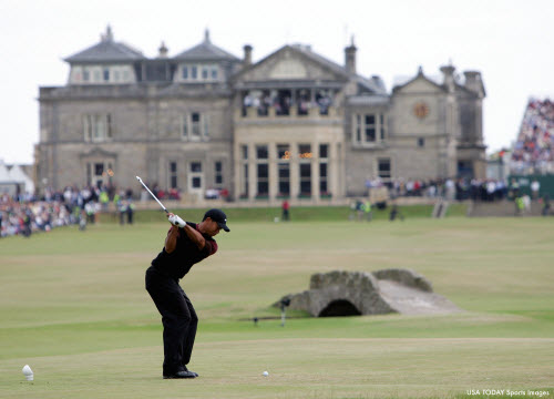 Tiger Woods at St. Andrews, image: usatoday.com
