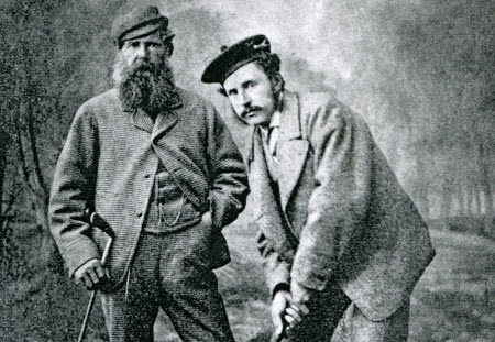 Young Tom Morris with his father in 1870, image: thememorialtournament.com