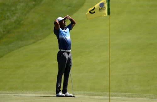 Tiger Woods Misses the Cut at the 2015 PGA Championship, image: cbssports.com